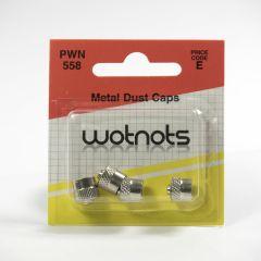 Reifenventil-Staubschutzkappen für PKW - Metall Chrom