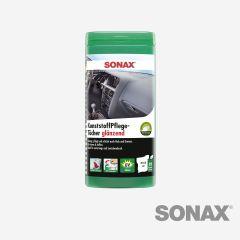 SONAX KunststoffPflegeTücher glänzend Box 25 Stk.