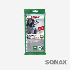 SONAX KunststoffPflegeTücher seidenmatt 10 Stk.