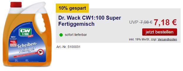 Scheibenreiniger von Dr. Wack