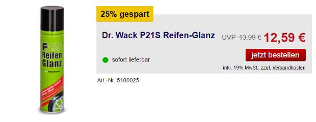 Dr. Wack Reifen-Glanz Spray bei scheibenwischer.com