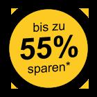 bis zu 55% sparen
